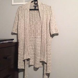 Off White/Creme Knit Cardigan. Size: S
